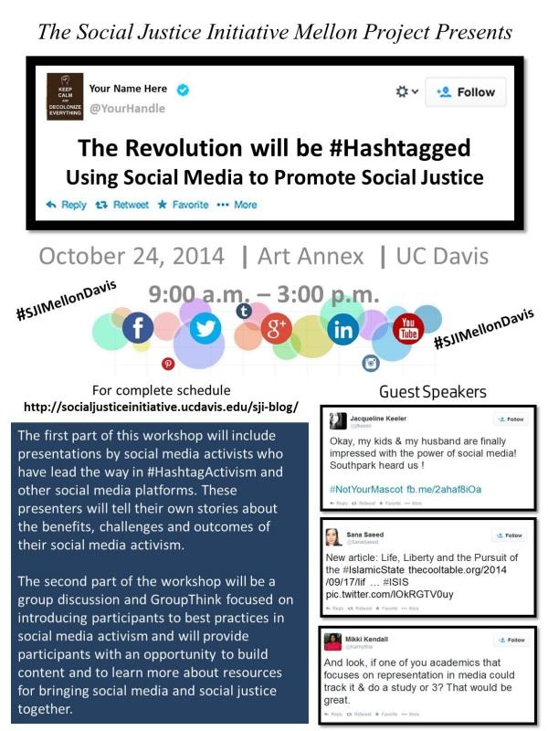 hashtag activism flyer