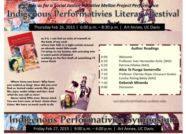 indigenous performativies festival flyer